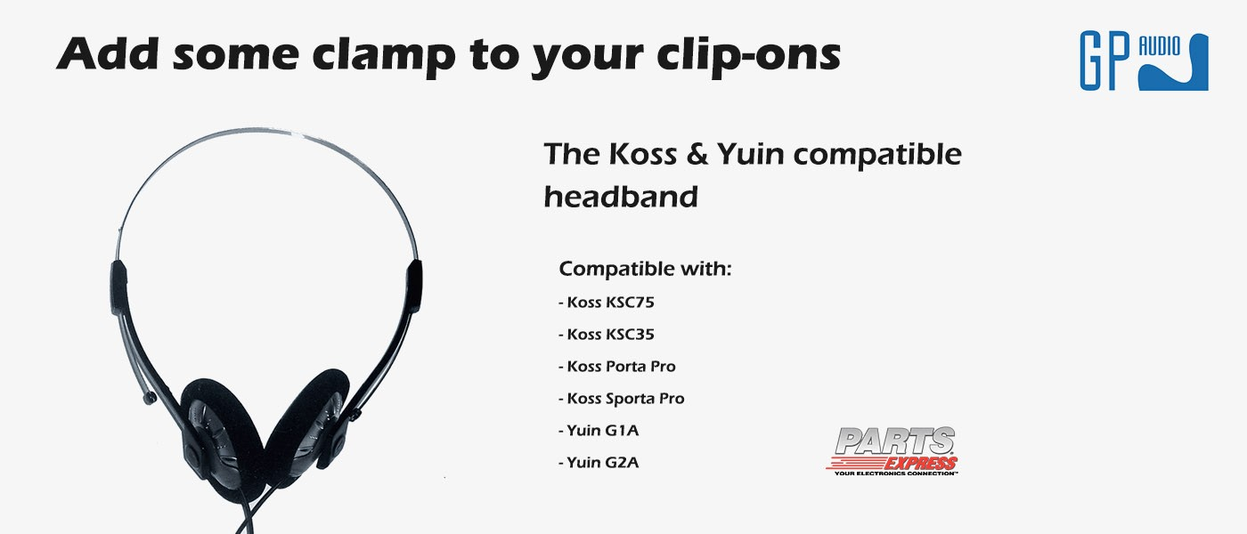 Koss KSC75 Compatible Headband by Parts Express available from GP Audio