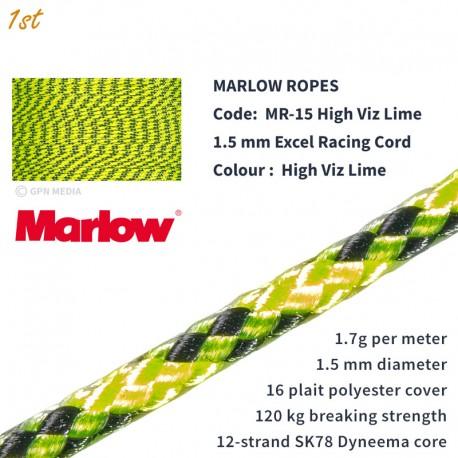 Marlow Ropes Excel Racing 1.5mm - High Viz Lime