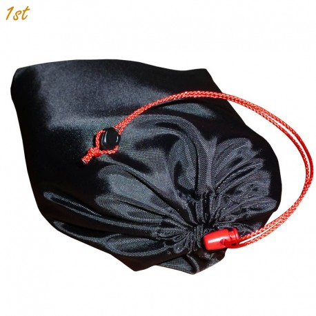 Scramble Tarp Bag (Black w. Red Cord, Cord Lock)